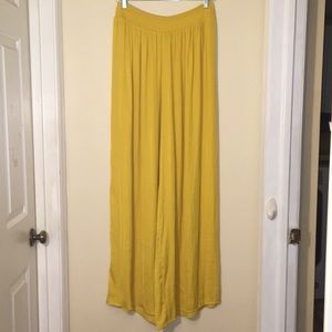 Forever 21 Silk Extremely Wide Leg High Rise Pants